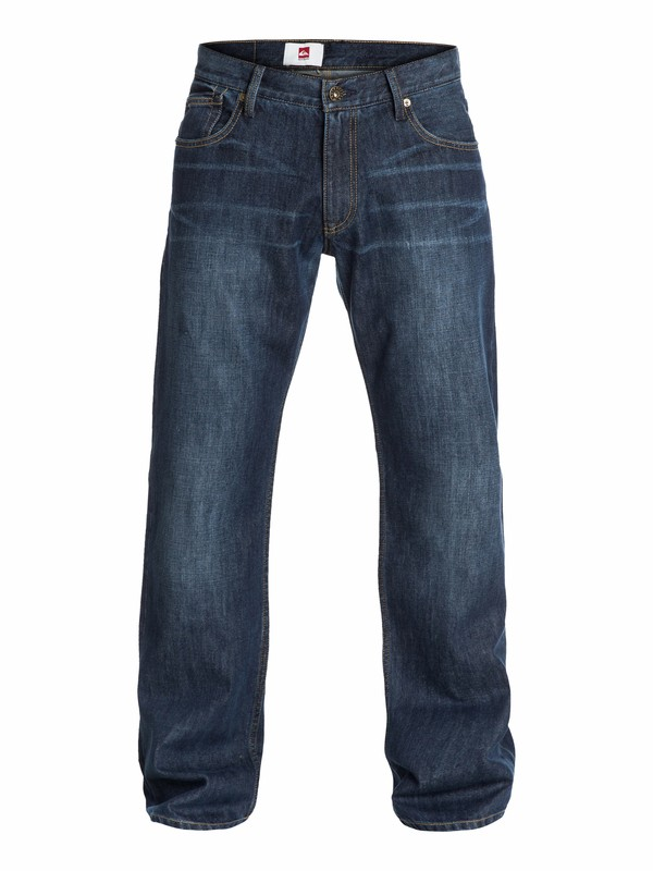 "0 Buster Dark  Relaxed Fit Jeans, 32"" Inseam Blue EQYDP03016 Quiksilver"