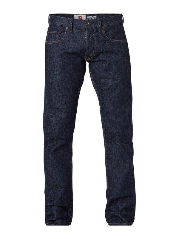 "0 Revolver Rinse Straight Fit Jeans, 30"" Inseam  EQYDP03047 Quiksilver"