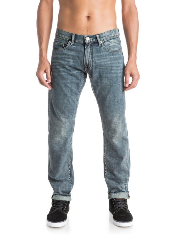 "0 Revolver Vintage Cracked 32"" Straight -Fit Jeans  EQYDP03165 Quiksilver"
