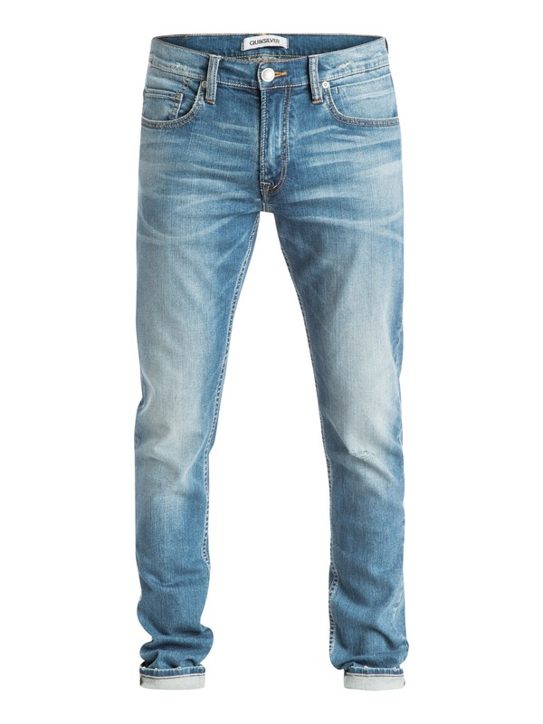 "0 Distorsion Whiten 32"" - Jean coupe slim  EQYDP03173 Quiksilver"