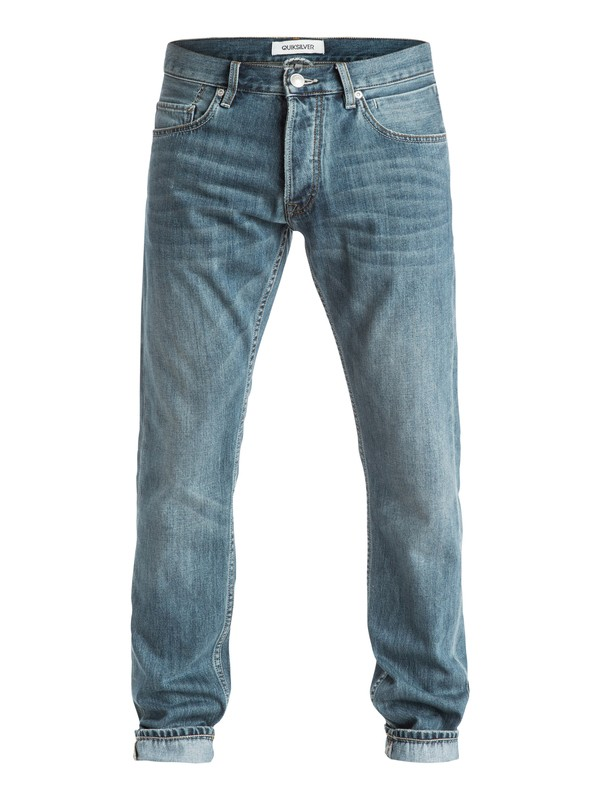 "0 Revolver Best 32"" - Jean coupe straight Bleu EQYDP03185 Quiksilver"