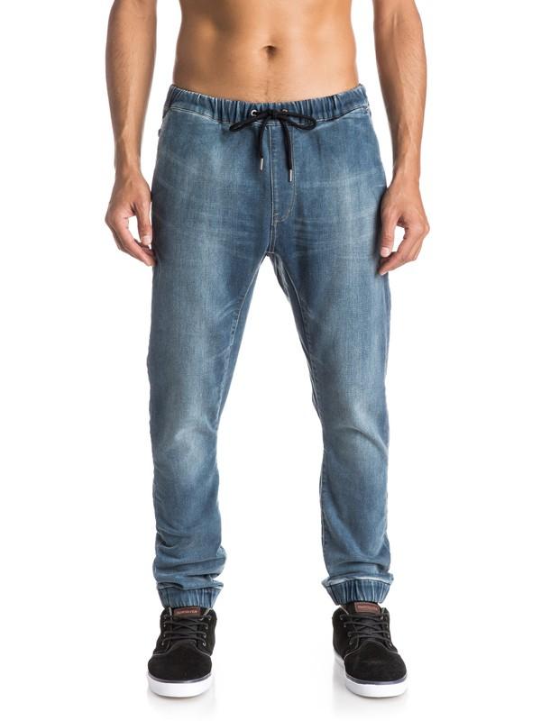0 Fonic Denim Fleece - Jean slim  EQYDP03193 Quiksilver