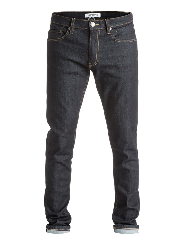 "0 Distorsion Rinse 34"" - Jean coupe slim  EQYDP03201 Quiksilver"