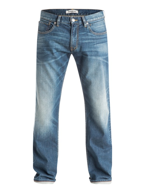 "0 Sequel Medium Blue 34"" - Jean coupe regular Bleu EQYDP03211 Quiksilver"