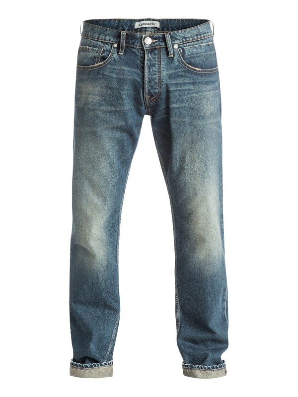 "0 Sequel Vintage Brown 34"" - Jean coupe regular Bleu EQYDP03213 Quiksilver"