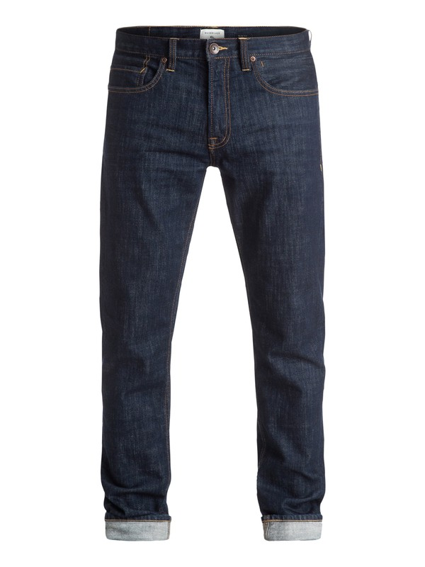 "0 Distorsion Rinse 32"" - Jean coupe slim Bleu EQYDP03219 Quiksilver"