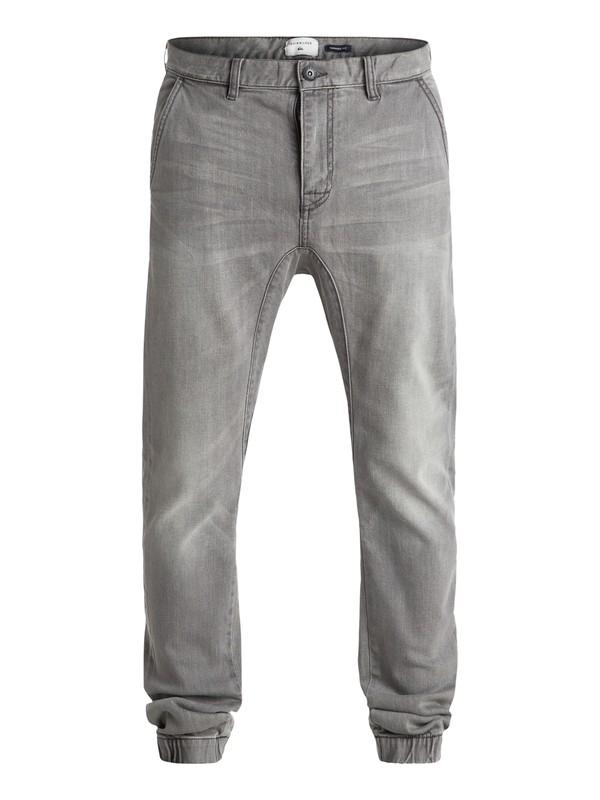 "0 Fonic Fix Used Grey 32"" - Pantalon Molleton Effet Denim  EQYDP03227 Quiksilver"