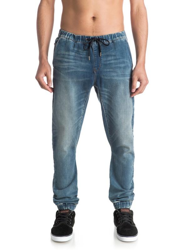 0 Fonic Stormy Blue - Pantalón De Chandal Vaquero Corte Pitillo Azul EQYDP03230 Quiksilver