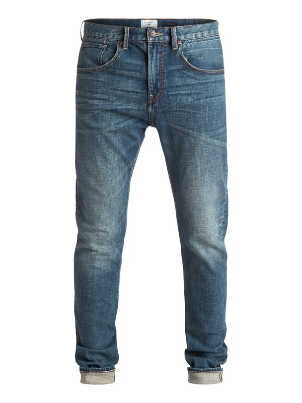 "0 Low Bridge Blue Damaged 32"" - Jean skinny Bleu EQYDP03236 Quiksilver"