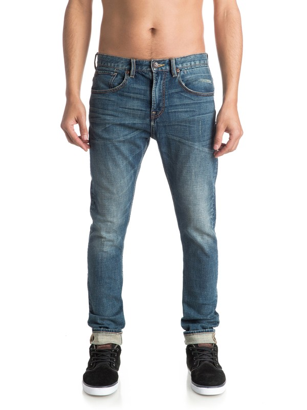 "0 Low Bridge Blue Damaged 32"" - Jean skinny  EQYDP03236 Quiksilver"