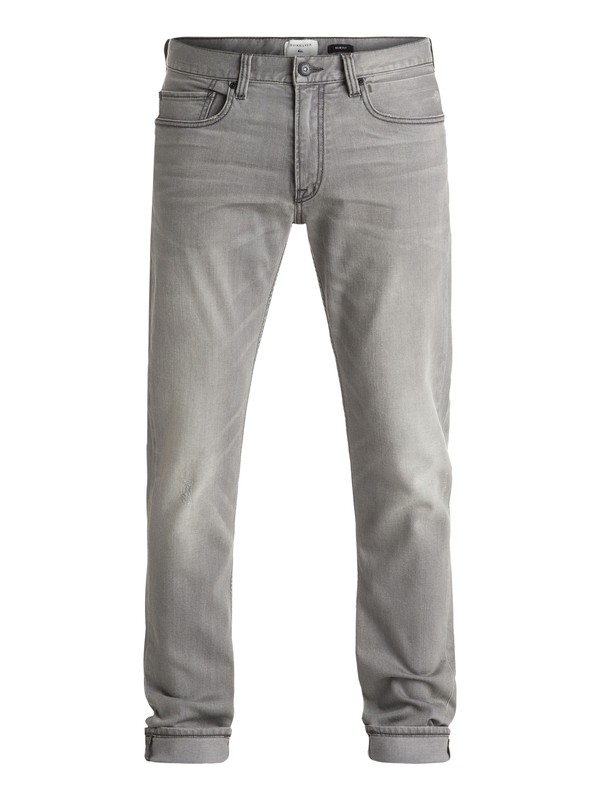 "0 Distorsion Grey Damaged 32"" - Jean coupe slim  EQYDP03243 Quiksilver"