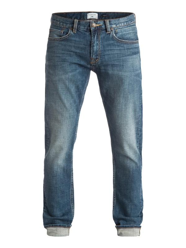 "0 Distorsion Medium Blue 34"" - Jean coupe slim Bleu EQYDP03252 Quiksilver"