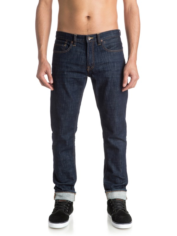 "0 Distorsion Rinse 34"" - Jean coupe slim  EQYDP03253 Quiksilver"