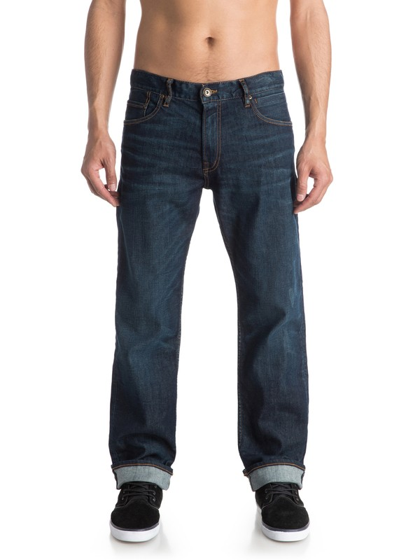 """0 High Force Icy Blue 34"""" - Jean ample  EQYDP03254 Quiksilver"""