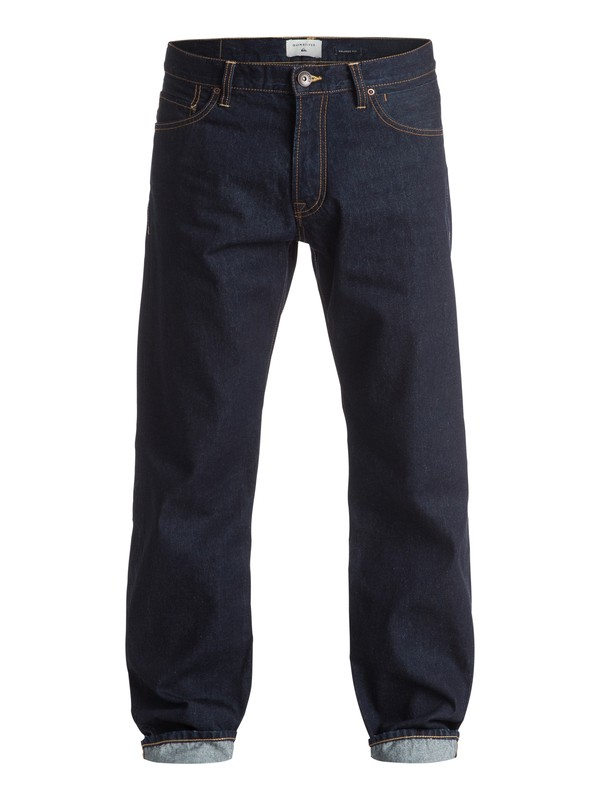 "0 High Force Rinse 34"" - Jean ample Bleu EQYDP03255 Quiksilver"