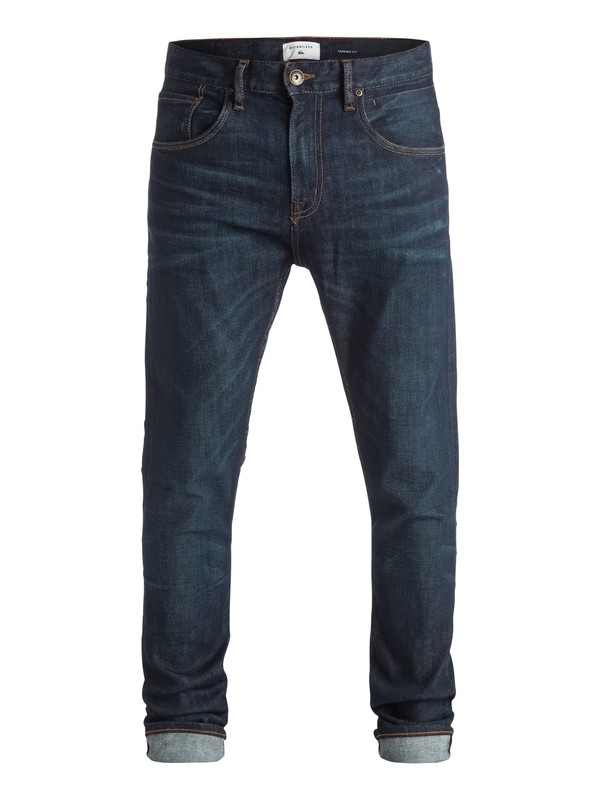 "0 Low Bridge Icy Blue 34"" - Jean skinny  EQYDP03257 Quiksilver"