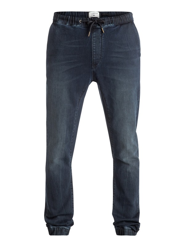0 Fonic Blue Black - Pantalon de jogging en denim coupe slim Bleu EQYDP03296 Quiksilver