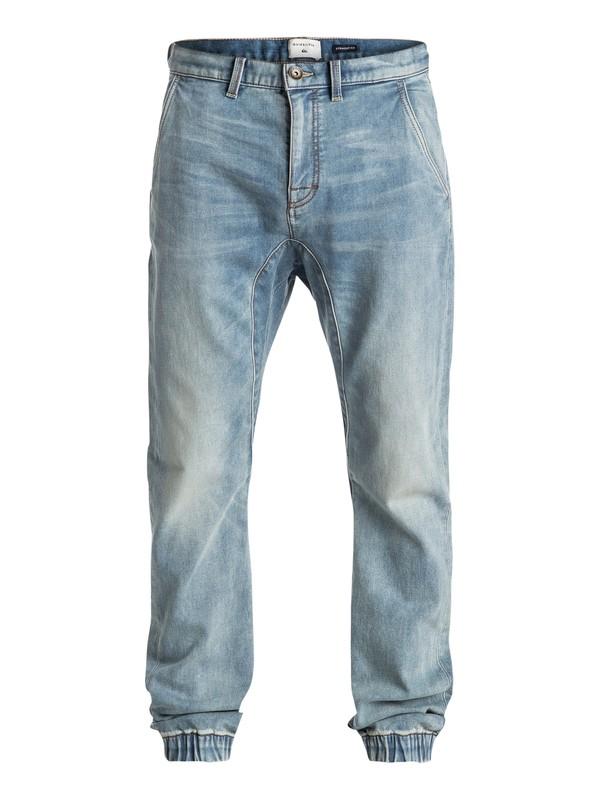 0 Fonic Fix New Blur - Pantalon de survêtement denim coupe droite Bleu EQYDP03305 Quiksilver