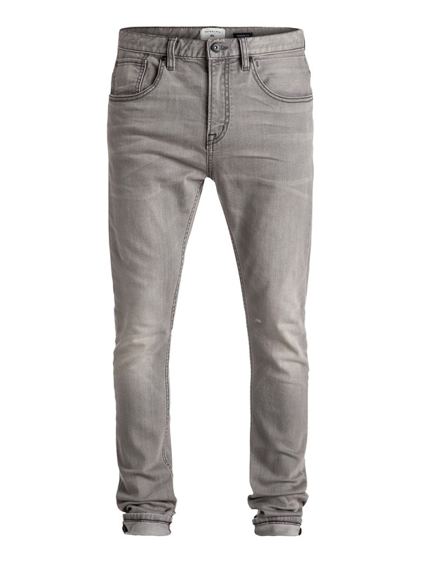 0 Low Bridge Used Grey - Vaqueros pitillo Gris EQYDP03309 Quiksilver