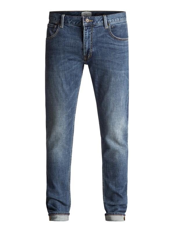 0 Zeppelin Medium Blue - Jean skinny Bleu EQYDP03320 Quiksilver