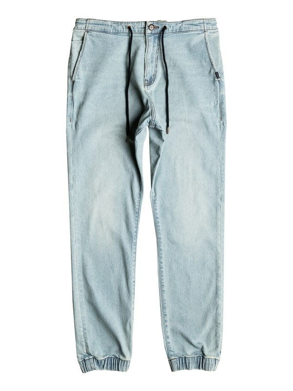 0 Bradfonic Bleached - Pantalon de jogging en denim Bleu EQYDP03323 Quiksilver