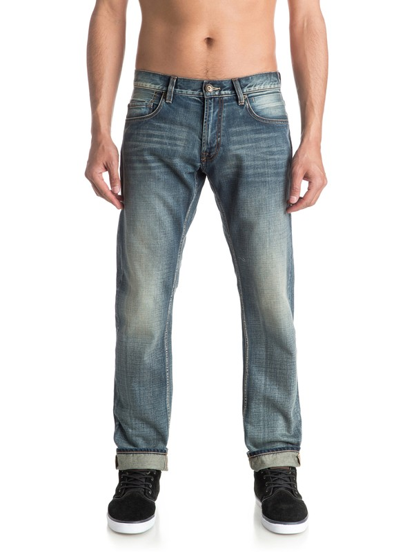 """0 Revolver Vintage Cracked 32"""" Straight Fit Jeans  EQYDP03330 Quiksilver"""