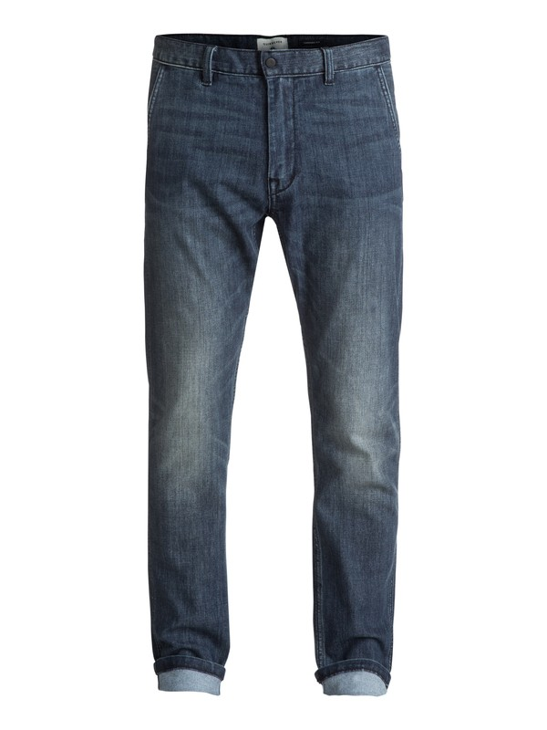 0 Athletic Coolmax - Jean coupe tapered Bleu EQYDP03335 Quiksilver