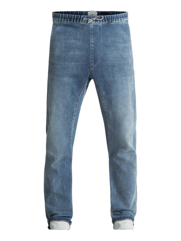 0 Fonic Straight Salty Stone - Pantalon de jogging en denim coupe slim Bleu EQYDP03338 Quiksilver