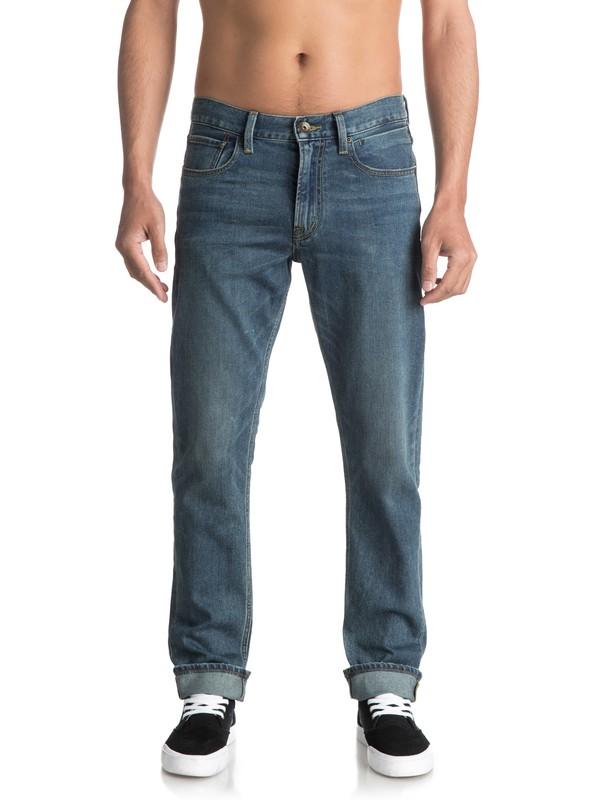 0 Revolver Medium Blue Straight Fit Jeans Blue EQYDP03345 Quiksilver