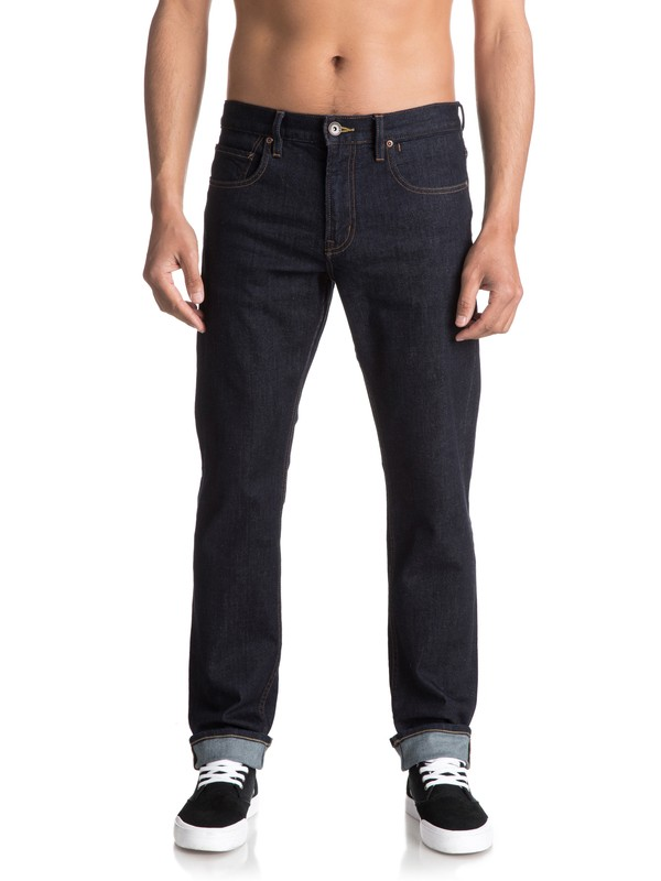 0 Revolver Rinse Straight Fit Jeans Blue EQYDP03348 Quiksilver