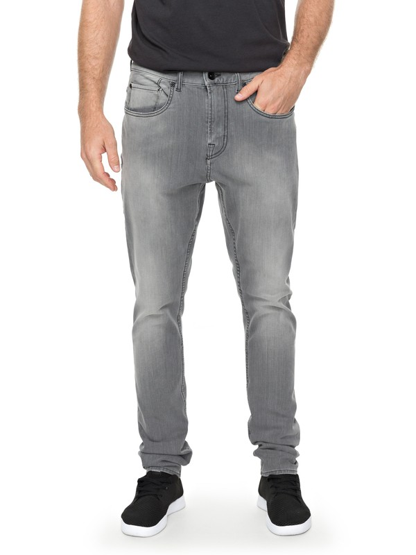0 Low Bridge Grey - Jean skinny Noir EQYDP03354 Quiksilver
