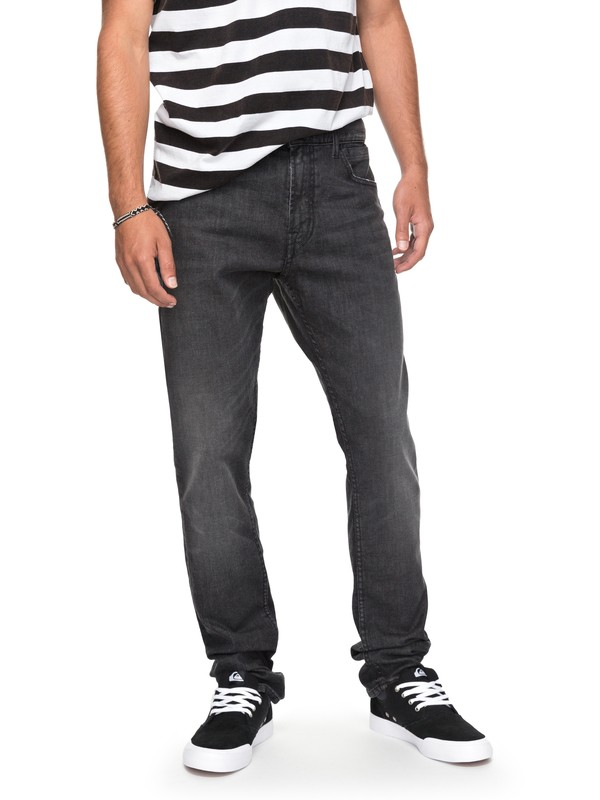 0 Distorsion Black - Jean slim Noir EQYDP03358 Quiksilver