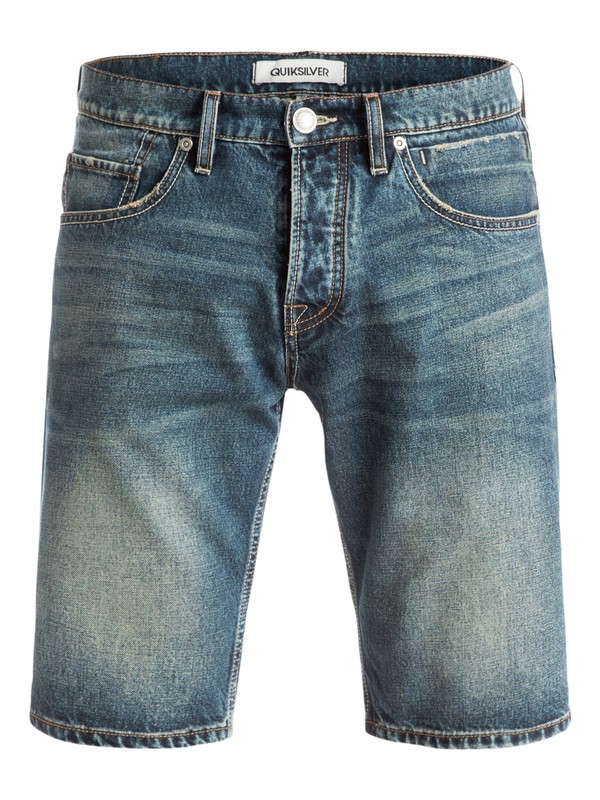 0 Sequel Vintage Brown - Short denim Bleu EQYDS03039 Quiksilver