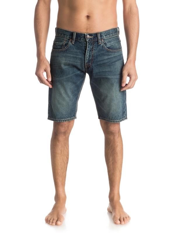 "0 Sequel Vintage Brown 20"" Denim Shorts  EQYDS03051 Quiksilver"