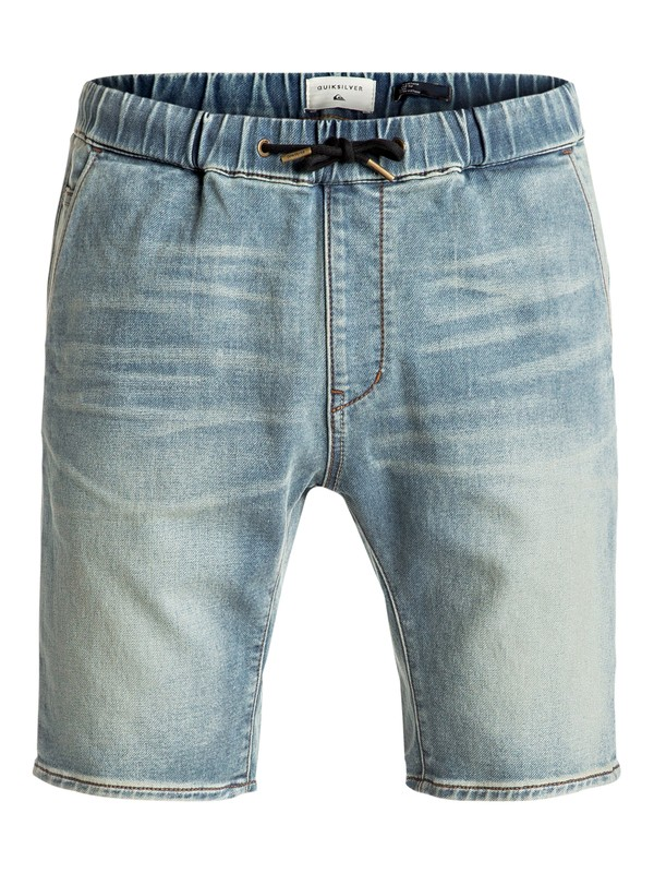 0 Fonic Blur - Shorts en molleton denim slim Bleu EQYDS03066 Quiksilver