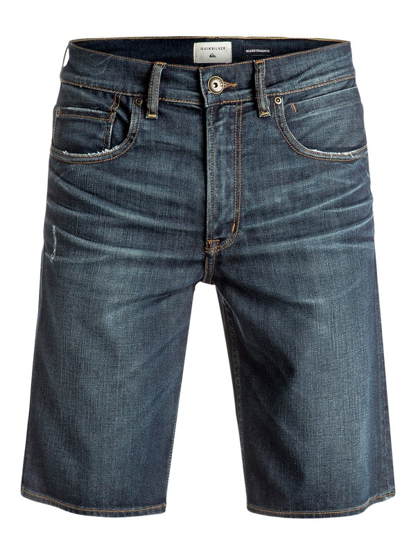 0 The Avalon Agy Blue - Short en denim Bleu EQYDS03070 Quiksilver