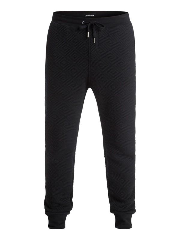 0 Revolutions Hunters - Pantalon en Molleton Tissu Texturé Noir EQYFB03070 Quiksilver