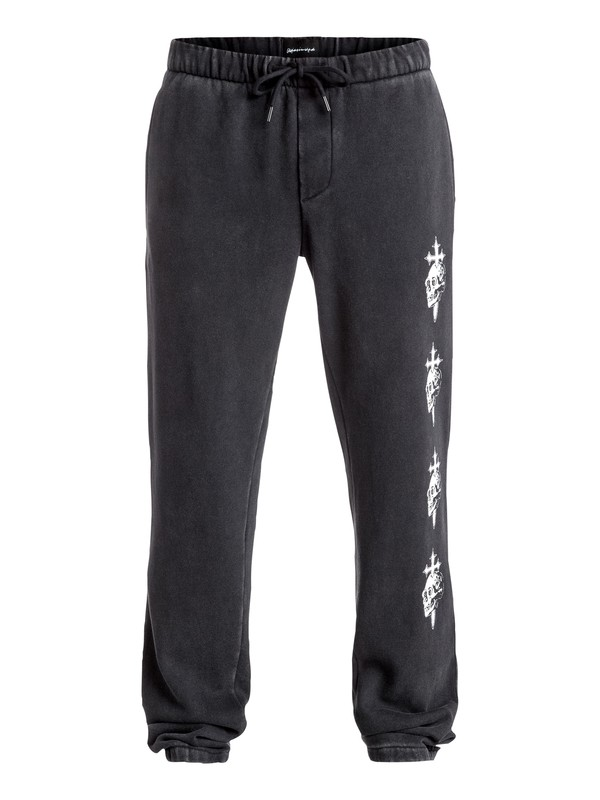 0 Skull Cross - Pantalon de jogging Noir EQYFB03089 Quiksilver