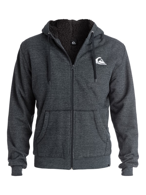 0 Everyday Heather Sherpa - Sweat doublé à capuche zippé  EQYFT03180 Quiksilver