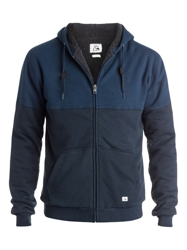 0 Color Block Sherpa Zip - Up Sweatshirt  EQYFT03262 Quiksilver