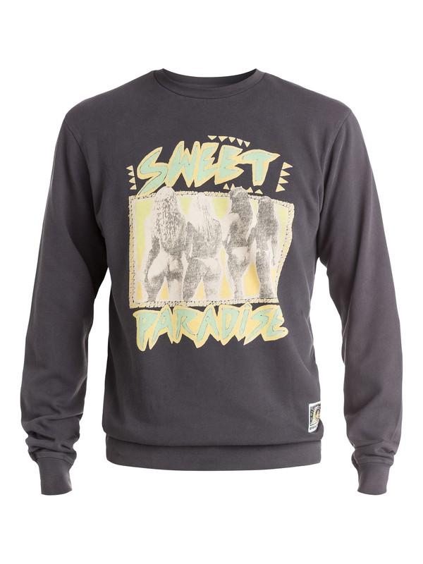 0 Paradise Crew - Sweatshirt Noir EQYFT03273 Quiksilver