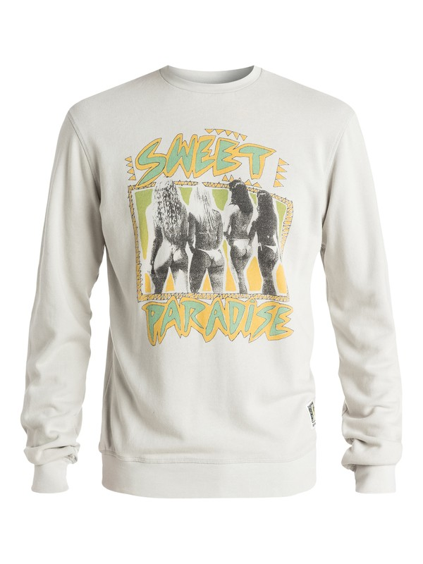 0 Paradise Crew - Sweatshirt Gris EQYFT03273 Quiksilver