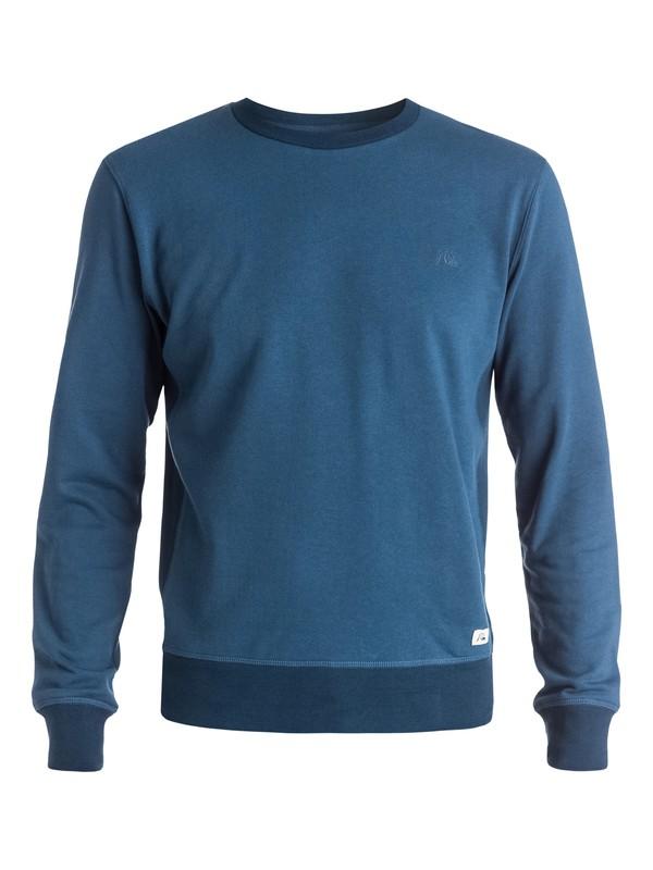0 Essential Crew - Sweatshirt Bleu EQYFT03288 Quiksilver