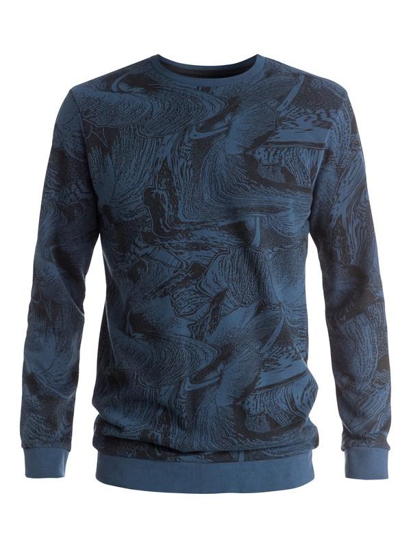 0 Dark Trip Crew - Sweatshirt Noir EQYFT03345 Quiksilver