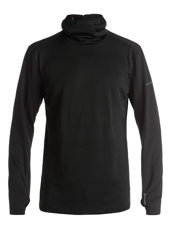 0 Log - Sweat à capuche technique en Polartec Noir EQYFT03388 Quiksilver