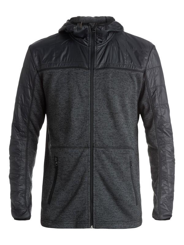 0 Lodge - Sweat à capuche technique zippé Noir EQYFT03390 Quiksilver