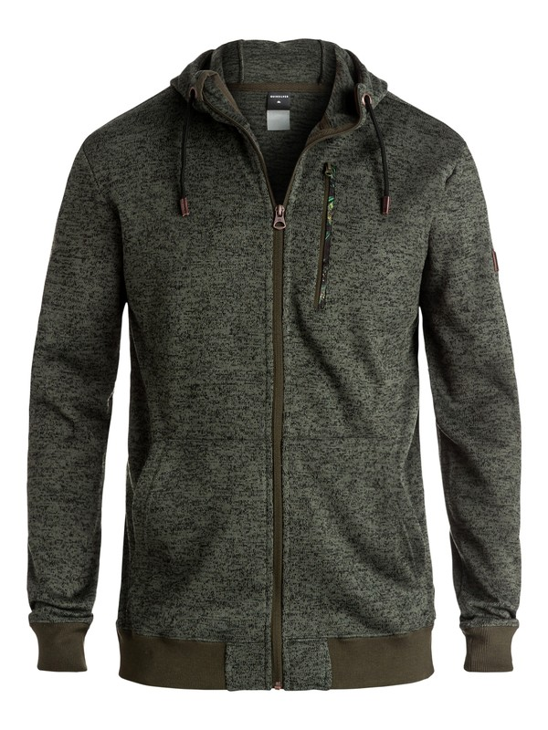 0 Trapper - Sweat à capuche technique zippé Marron EQYFT03392 Quiksilver