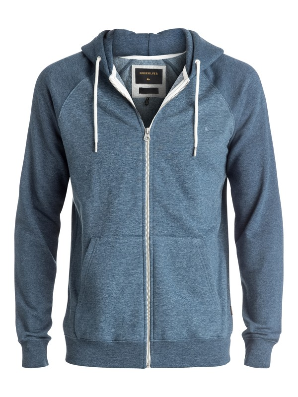 0 Everyday - Sweat à capuche zippé Bleu EQYFT03429 Quiksilver