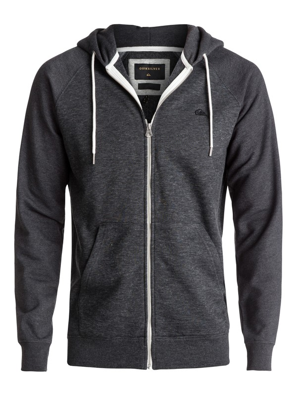 0 Everyday Zip-Up Hoodie Black EQYFT03429 Quiksilver