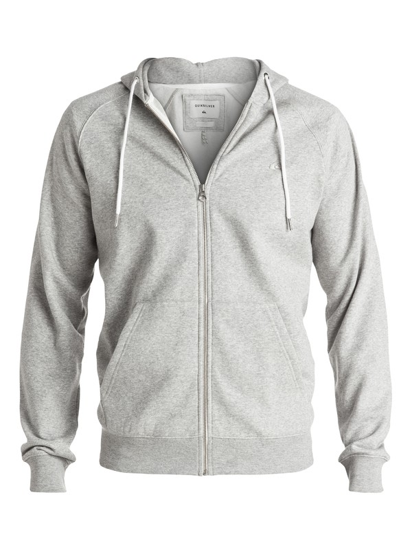 0 Everyday Zip-Up Hoodie Grey EQYFT03429 Quiksilver